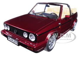 1992 Volkswagen Golf Cabriolet Classic Line Red Metallic 1/18 Diecast Model Car Norev 188403