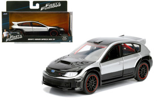 "Brian's Subaru Impreza WRX STI Silver and Black ""Fast & Furious"" Movie 1/32 Diecast Model Car Jada 98507"