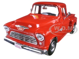 1955 Chevrolet 5100 Stepside Pickup Truck Red 1/24 Diecast Model Car Motormax 73236