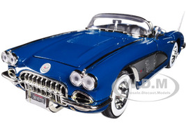 1958 Chevrolet Corvette Turquoise Timeless Classics 1/18 Diecast Model Car Motormax 73109