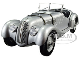 1936 BMW 328 Silver Limited Edition to 504pcs 1/18 Diecast Model Car Minichamps 155025030