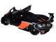 McLaren P1 GTR Dark Grey with Orange Accents 1/18 Model Car Autoart 81543