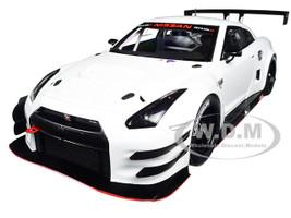 Nissan GT-R Nismo GT3 White 1/18 Model Car Autoart 81576