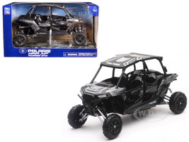 Polaris RZR XP 4 Turbo EPS Titanium Matt Metallic 1/18 Model New Ray 57843 C