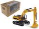 CAT Caterpillar 340D L Hydraulic Excavator with Operator 1/50 Diecast Model Diecast Masters 85908 C