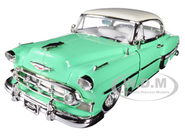 "1953 Chevrolet Bel Air Light Green ""Lowrider Series"" Street Low 1/24 Diecast Model Car Jada 98917"
