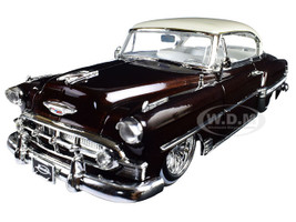 "1953 Chevrolet Bel Air Brown ""Lowrider Series"" Street Low 1/24 Diecast Model Car Jada 98916"