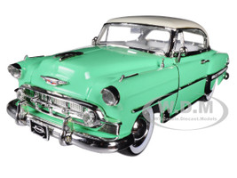 "1953 Chevrolet Bel Air Light Green ""Showroom Floor"" 1/24 Diecast Model Car Jada 98884"