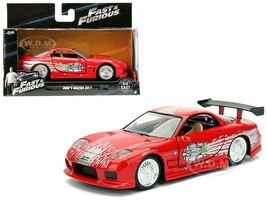 Dom's Mazda RX-7 Red Fast & Furious Movie 1/32 Diecast Model Car Jada 98377