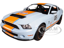 "2012 Ford Mustang Shelby GT500 ""Gulf"" Oil #08 1/18 Diecast Model Car Greenlight 12990"