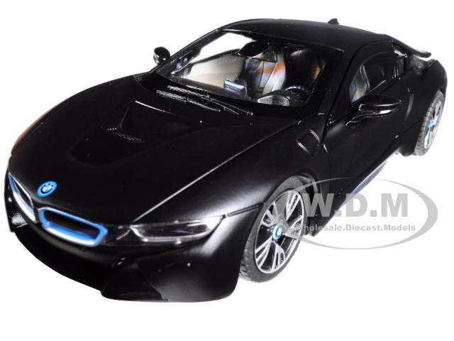 Bmw I8 Matt Black 1 24 Diecast Model Car Rastar 56500