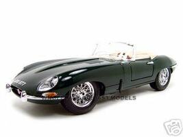 1961 Jaguar E Type Convertible Green 1/18 Diecast Model Car Bburago 12046
