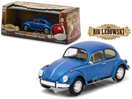 "Da Fino's Volkswagen Beetle Blue ""The Big Lebowski"" Movie (1998) 1/43 Diecast Model Car Greenlight 86496"