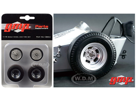 "Vintage Dragster Wheels and Tires Set of 4 from ""The Chizler V"" Vintage Dragster 1/18 Model GMP 18854"