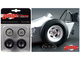 """Vintage Dragster Wheels and Tires Set of 4 from """"The Chizler V"""" Vintage Dragster 1/18 Model GMP 18854"""