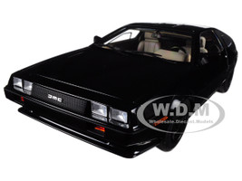 DeLorean DMC 12 Metallic Black 1/18 Model Car Autoart 79917
