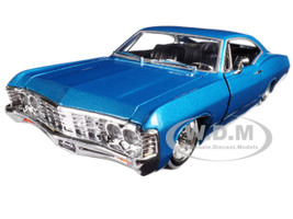 "1967 Chevrolet Impala Blue ""Lowrider Series"" Street Low 1/24 Diecast Model Car Jada 98935"