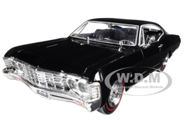 "1967 Chevrolet Impala Black ""Showroom Floor"" 1/24 Diecast Model Car Jada 98910"