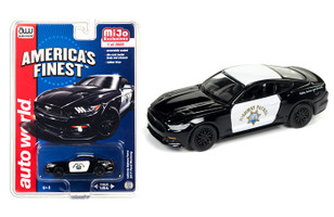 "2017 Ford Mustang GT ""America's Finest"" CHP California Highway Patrol  1/64 Diecast Model Car Autoworld CP7475"