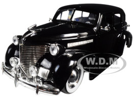 1939 Chevrolet Master Deluxe Black with baby Moon Wheels Showroom Floor 1/24 Diecast Model Car Jada 98880