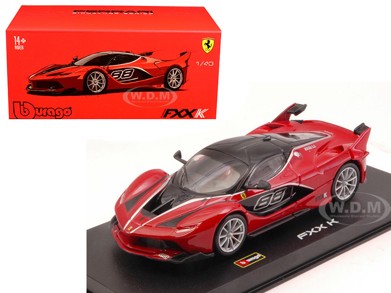 Ferrari FXX-K #88 Red Signature Series 1/43 Diecast Model Car Bburago 36906