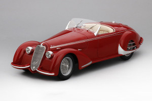 1938 Alfa Romeo 8C 2900B Touring Spider Carrozzeria Superleggera Red Collection d'Elegance 1/18 Model Car True Scale Miniatures 161803