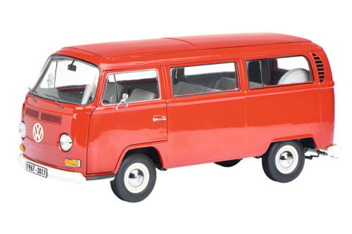 Volkswagen T2 A Bus Microbus Red 50 Years Anniversary 1967-2017 Limited to 500pc Worldwide 1/18 Diecast Model Car Schuco 450019600
