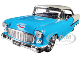 1955 Chevrolet Bel Air Blue Bigtime Muscle 1/24 Diecast Model Car Jada 98937