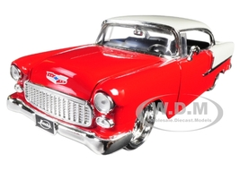1955 Chevrolet Bel Air Red Bigtime Muscle 1/24 Diecast Model Car Jada 98938