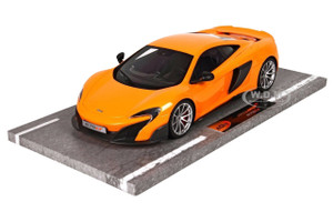 Mclaren 675LT Long Tail Orange Numbered Limited Edition to 60 Pieces Worldwide 1/18 Model Car BBR 1814 B