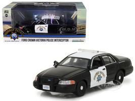 Ford Crown Victoria Police Interceptor Car California Highway Patrol CHP 1/43 Diecast Model Car Greenlight 86086