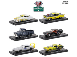 Drivers 6 Cars Set Release 45 In Blister Packs 1/64 Diecast Model Cars M2 Machines 11228-45