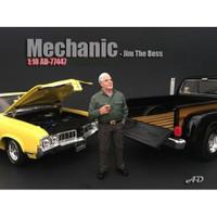 Mechanic Jim The Boss Figurine Figure For 1:18 Models American Diorama 77447