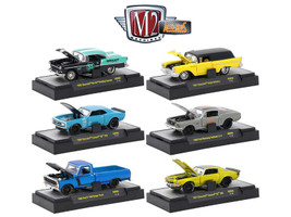 Auto Mods 6 Cars Set Release 6 IN DISPLAY CASES 1/64 Diecast Model Cars M2 Machines 32600-AM06