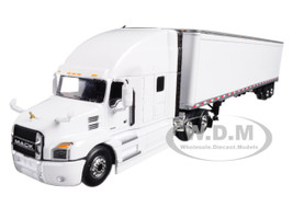 Mack Anthem Sleeper Cab White with 53' Trailer 1/64 Diecast Model First Gear 60-0367