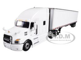 Mack Anthem Sleeper Cab White with 53' Trailer 1/64 Diecast Model DCP/First Gear 60-0367