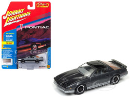 1985 Pontiac Firebird Trans Am Medium Gray Poly with Silver Classic Gol Limited Edition to 1800pc Worldwide Hobby Exclusive 1/64 Diecast Model Car Johnny Lightning JLCG011 B