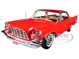 1957 Chrysler 300C Hemi Gauguin Red 60th Anniversary Limited Edition to 1002pc 1/18 Diecast Model Car Autoworld AMM1110