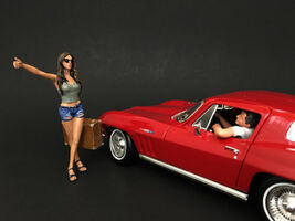 Hitchhiker 2 Piece Figure Set for 1/18 Scale Model Cars American Diorama 23896G