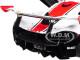 McLaren P1 GTR Gloss White with Red Stripes 1/18 Model Car Autoart 81541