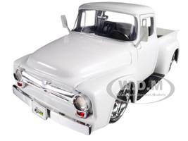 1956 Ford F-100 Pickup Truck White Just Trucks 1/24 Diecast Model Car Jada 99043