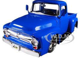 1956 Ford F-100 Pickup Truck Blue Just Trucks 1/24 Diecast Model Car Jada 99044