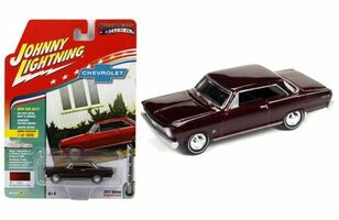 1965 Chevrolet Nova SS Madeira Maroon Poly Limited Edition to 1800pc Worldwide Hobby Exclusive Muscle Cars USA 1/64 Diecast Model Car Johnny Lightning JLMC010 A