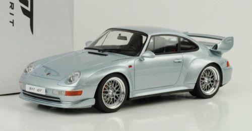 Porsche 911 993 GT Silver 1/18 Model Car GT Spirit ZM098