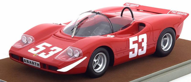 Abarth 2000 S 1969 Winner Nurburgring Toine Hazemans Limited Edition to 100pcs 1/18 Model Car Tecnomodel TM18-58 A
