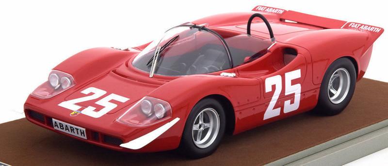 Abarth 2000 S #25 1969 Winner Imola Gijs van Lennep Johannes Ortner Limited Edition to 50pcs 1/18 Model Car Tecnomodel TM18-58 E