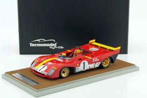 Ferrari 312 PB #1 1972 Winner 1000km Monza Jacky Ickx Clay Regazzoni Limited Edition to 100pcs 1/18 Model Car Tecnomodel TM18-62 C