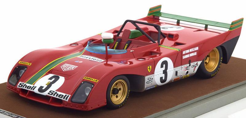 Ferrari 312 PB #3 1972 Winner Targa Florio Arturo Merzario Sandro Munari Limited Edition to 100pcs 1/18 Model Car Tecnomodel TM18-62 D