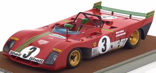 Ferrari 312 PB #3 1972 Winner 1000km SPA Arturo Merzario D. Redman Limited Edition to 100pcs 1/18 Model Car Tecnomodel TM18-62 E