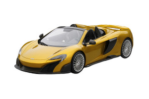 McLaren 675LT Spider Solis Yellow 1/18 Model Car Top Speed TS0071